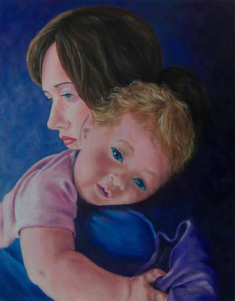 Snuggle Painting - Her Warm Embrace by Susan DeLain