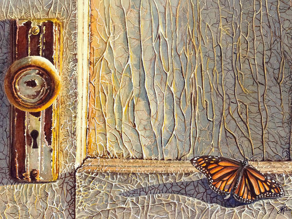 Painting - Her Wings Were Kissed By The Sun by Greg and Linda Halom