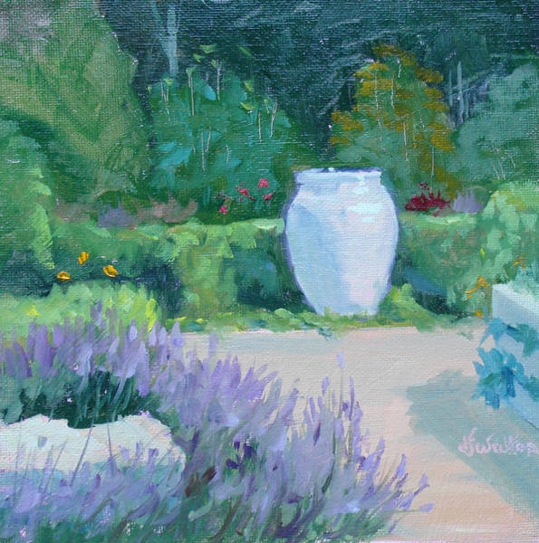 Painting - Herb Garden With Lavender by Judy Fischer Walton