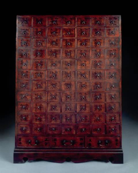 Traditional Chinese Medicine Wall Art - Photograph - Herbal Medicine Cabinet by Mark De Fraeye/science Photo Library