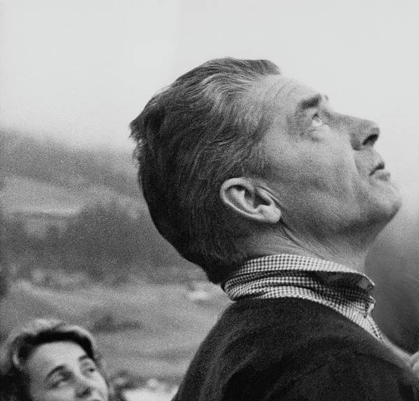 Monochrome Photograph - Herbert Von Karajan by Horst P. Horst