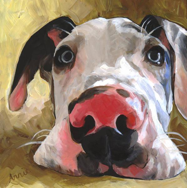 Great Dane Painting - Herbie by Annie Salness