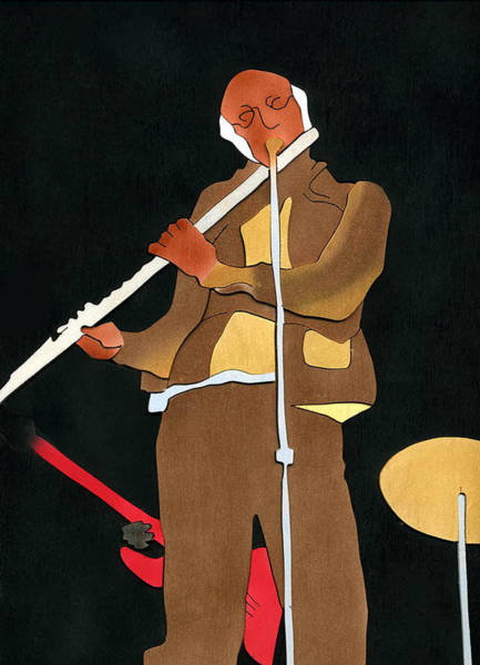 Mixed Media - Herbie Mann by Fred Gardner