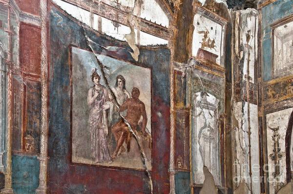 Roman Wall Photograph - Herculaneum Wall by Marion Galt