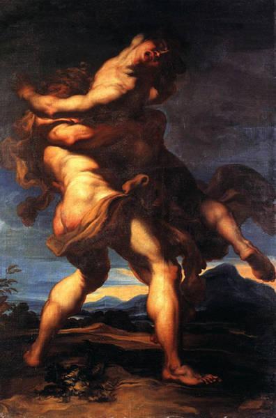 Painting - Hercules And Antaeus by Gaudenzio Ferrari