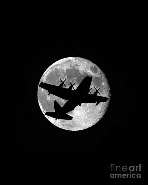 National Guard Photograph - Hercules Moon Vertical by Al Powell Photography USA