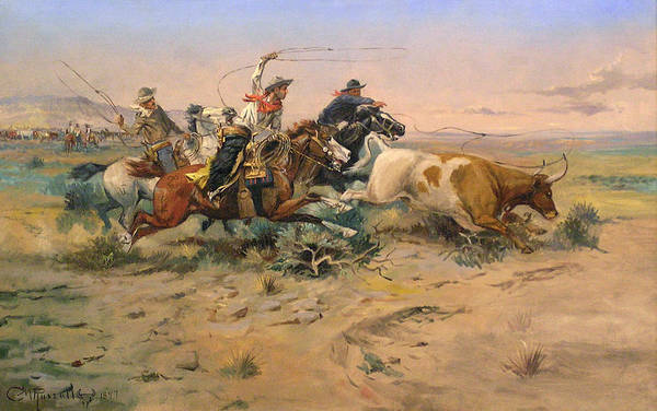 Wall Art - Digital Art - Herd Quit by Charles Russell