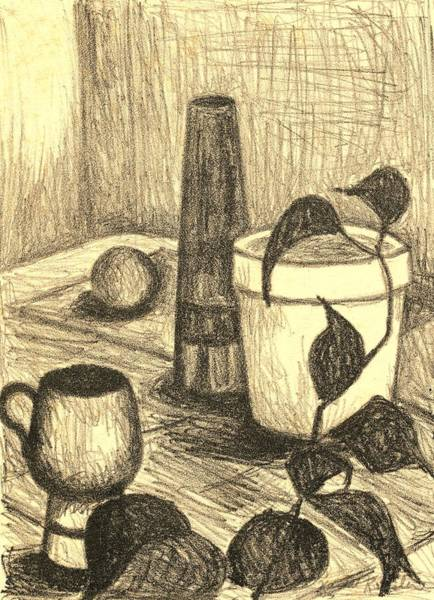 Drawing - Here Is The Flashlight by Kendall Kessler