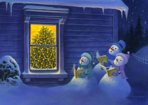 Wall Art - Painting - Here We Come A Caroling by Michael Humphries
