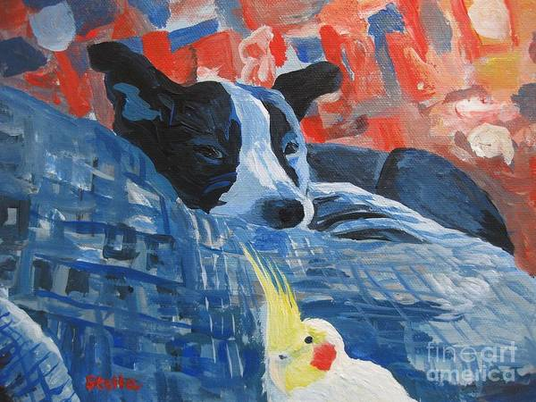 Painting - Heres Looking At You Pal by Stella Sherman