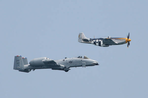 Photograph - Heritage Flight A10 And P51 4 Right by Donna Corless