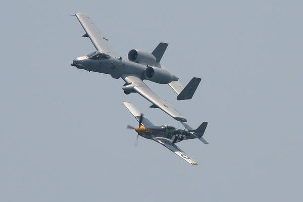 Photograph - Heritage Flight A10 And P51 by Donna Corless