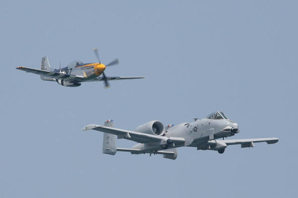 Photograph - Heritage Flight A10 And P51 Front R by Donna Corless
