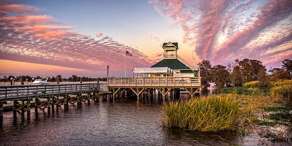 Photograph - Heritage Marina Clubhouse by Mike Covington