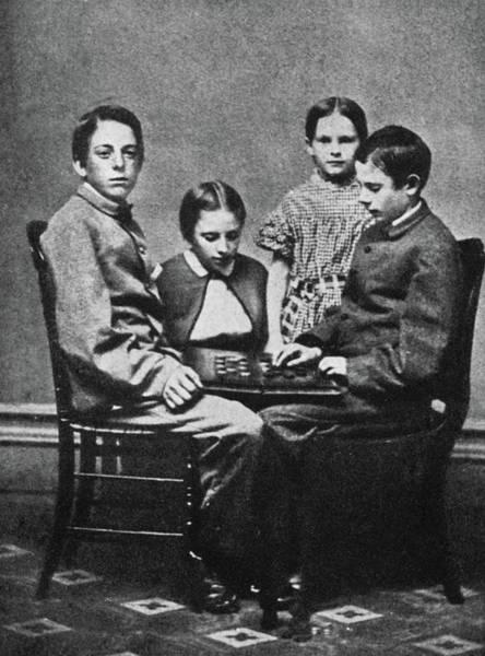 Melville Photograph - Herman Melville's Children by Granger