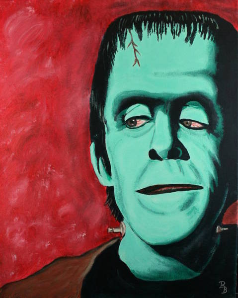 Painting - Herman Munster - The Munsters by Bob Baker