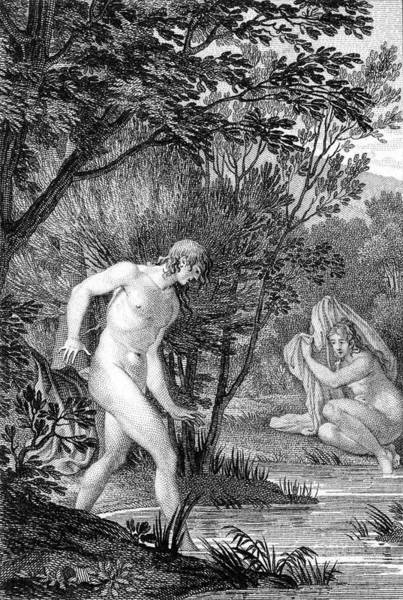 Become One Wall Art - Drawing - Hermaphroditus, Son Of Hermes by Mary Evans Picture Library