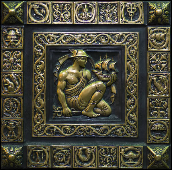 Digital Art - Hermes Bronze Plate by Chris Flees
