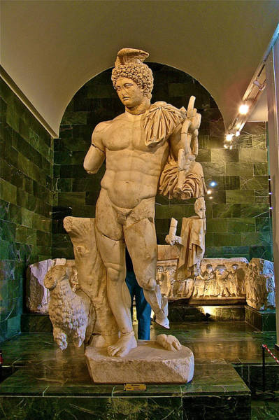Wall Art - Photograph - Hermes-god Of Travelers-in Antalya Archeological Museum-turkey  by Ruth Hager