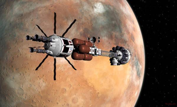 Digital Art - Hermes1 Mars Insertion Part 1 by David Robinson
