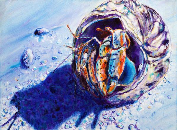 Us Virgin Islands Painting - Hermit Crab Study I by Paulene Edwards