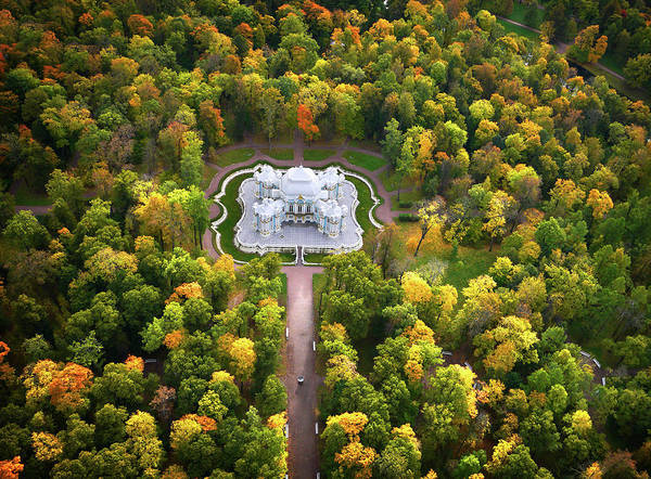 Hermitage Photograph - Hermitage Pavilion In Autumn by Amos Chapple