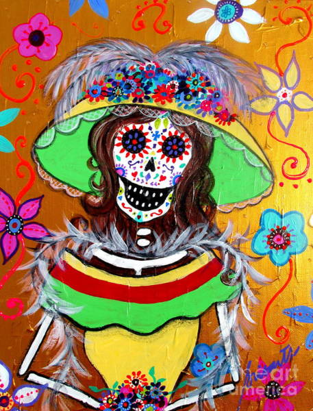 Hair Of The Dog Wall Art - Painting - Hermosa Catrina by Pristine Cartera Turkus