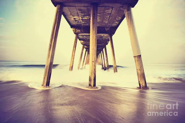 Whitecaps Photograph - Hermosa Pier In Color by Katya Horner