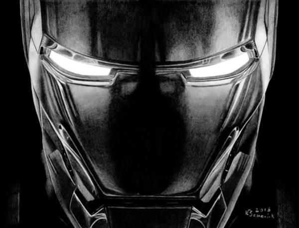 Iron Drawing - Hero In Shining Iron by Kayleigh Semeniuk