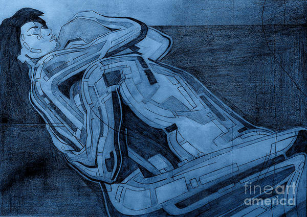 Digital Art - Heroes In Blue Drawing  by David Hargreaves
