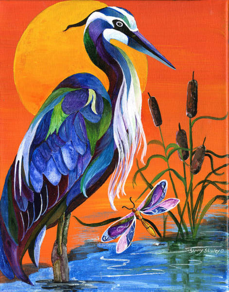 Painting - Heron Blue by Sherry Shipley