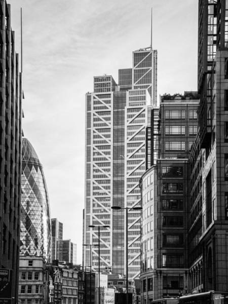 Photograph - Heron Tower From Bishopsgate Black And White Version by Gary Eason