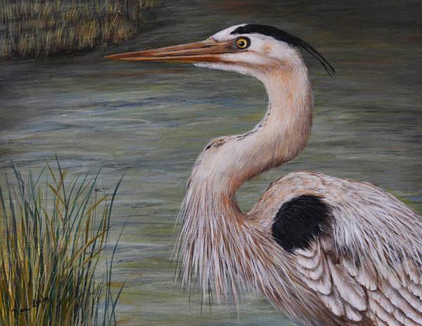 Painting - Heron Watching  by Nancy Lauby