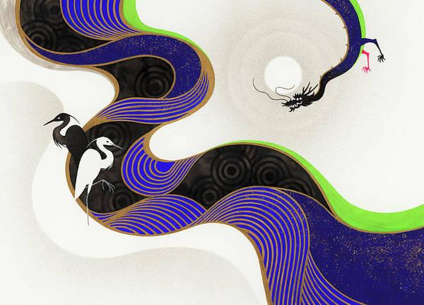 Phantasy Wall Art - Photograph - Herons Across Twisting River From Dragon by Ikon Ikon Images