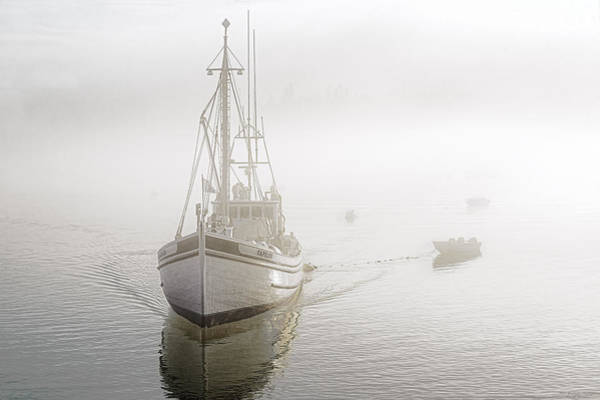 Photograph - Herring Carrier Capelco Emerges From Fog by Marty Saccone