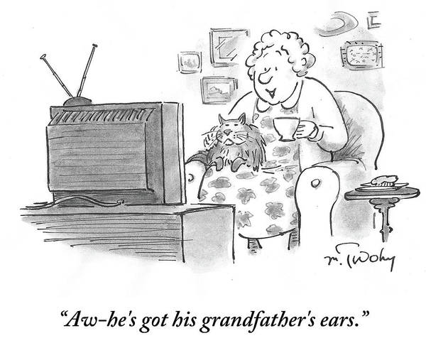 He's Got His Grandfather's Ears Art Print