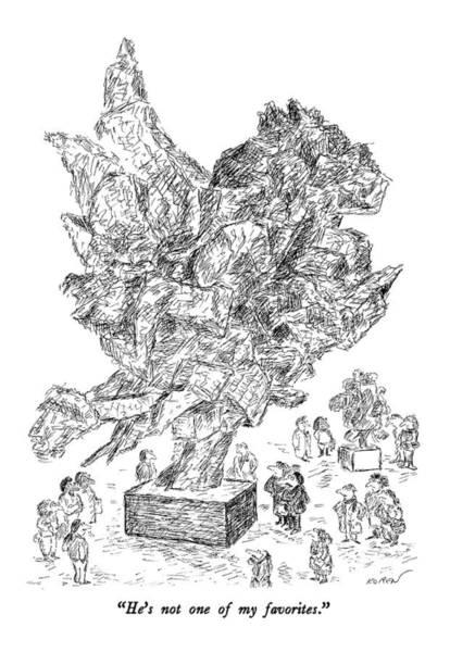 Steel Drawing - He's Not One Of My Favorites by Edward Koren