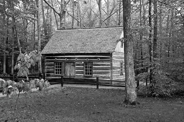 Photograph - Hesler Log Home 10234b by Guy Whiteley