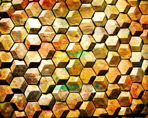 Digital Art - Hexacubes by Rick Wicker