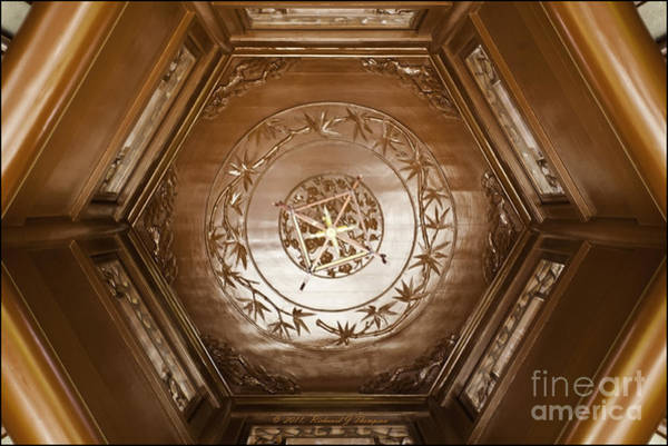 Photograph - Hexagon Ceiling by Richard J Thompson