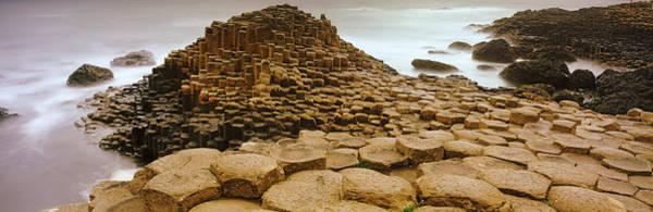 Basalt Columns Photograph - Hexagonal Rock At Giants Causeway by Panoramic Images