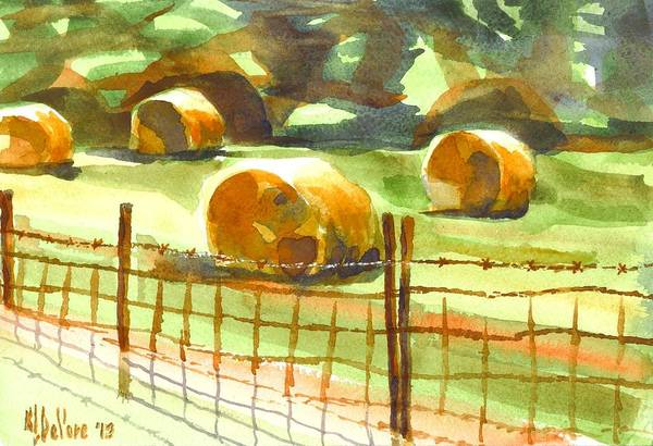 Painting - Hey Bales In The Afternoon by Kip DeVore