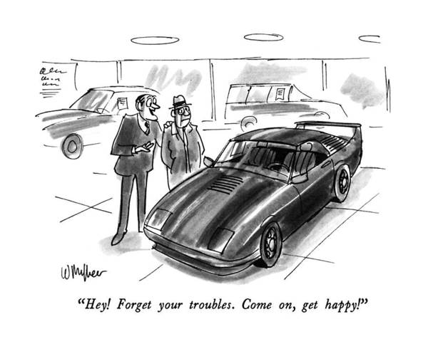 Sports Car Drawing - Hey!  Forget Your Troubles.  Come by Warren Miller