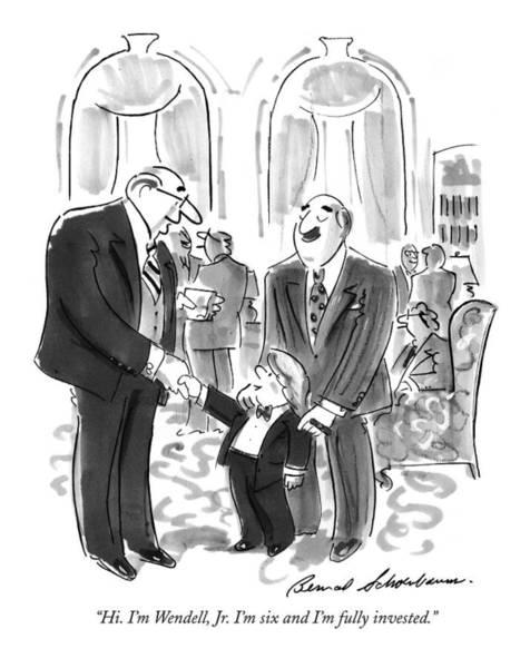 Stock Market Drawing - Hi. I'm Wendell by Bernard Schoenbaum
