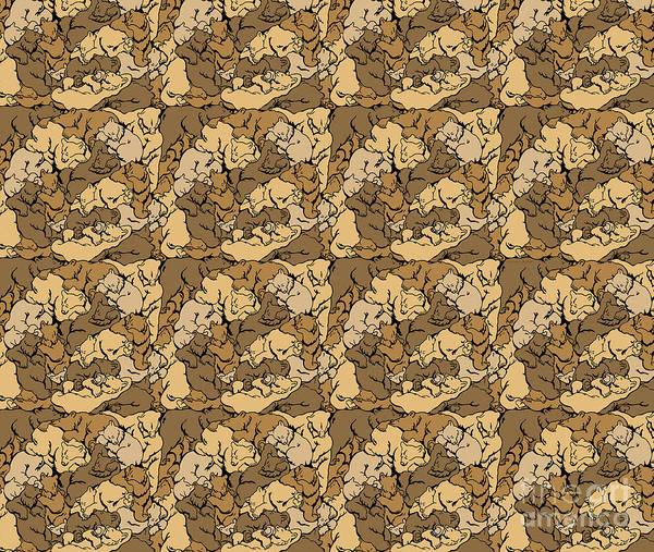 Painting - Hibernation Bedding Brown by JQ Licensing