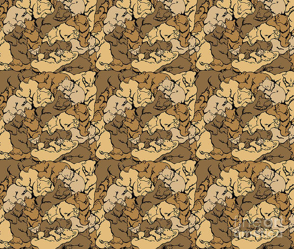 Painting - Hibernation Pillow Brown by JQ Licensing