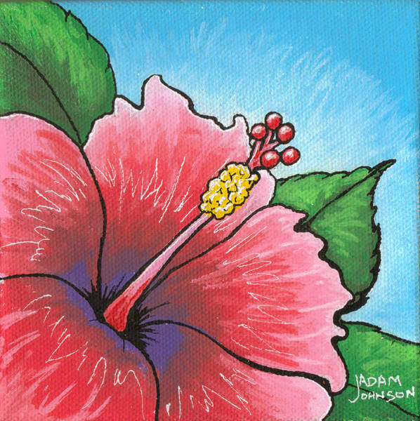 Painting - Hibiscus 03 by Adam Johnson