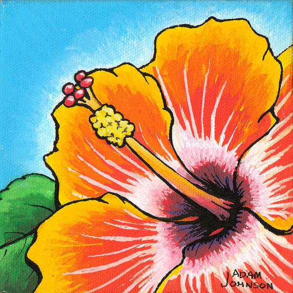 Painting - Hibiscus 04 by Adam Johnson
