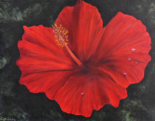 Painting - Hibiscus Beauty by Nancy Lauby
