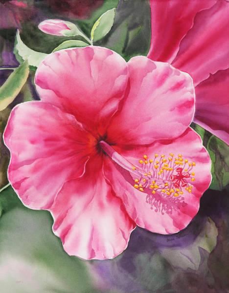 Hibiscus Flower Painting - Hibiscus by Irina Sztukowski